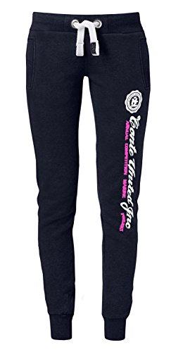 M.Conte Ramona Pantalons de survêtement de jogging pour les femmes Rose Taille S