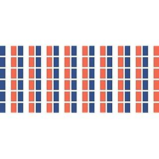 Mini Aufkleber Set - Pack glatt - 20x12mm - selbstklebender Sticker - Fahne - Frankreich - Flagge / Banner / Standarte fürs Auto, Büro, zu Hause und die Schule - 54 Stück