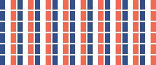 Mini Aufkleber Set - Pack glatt - 20x12mm - selbstklebender Sticker - Fahne - Frankreich - Flagge / Banner / Standarte fürs Auto, Büro, zu Hause und die Schule - 54 Stück -