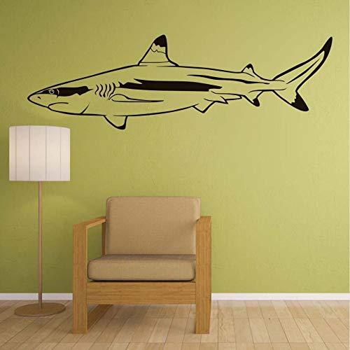 Jixiaosheng Sea Ocean Great WhE Shark Wandaufkleber Badezimmer WasserdichteKinderzimmerWandtattoosTiere189 * 58 Cm