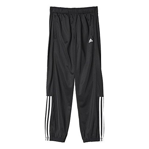 adidas Jungen Sporthose Lang Essentials Mid 3-Streifen Trainingshose, Black/White, 152