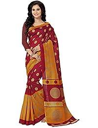 Venisa Women's Cotton Saree With Blouse Piece (Vns1235,Multicolor,Free Size)
