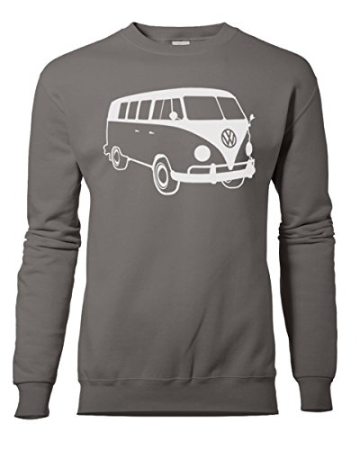Fashion Review Veste rétro camping-car Volkswagen VW Camper Van Sweat Pull de XS à XXL Noir - Charbon