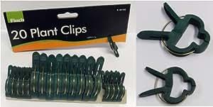 Finch Garten Clip Halterung für Sträucher, Raffhalter aus Kunststoff grün Frühling Peg Klemmen