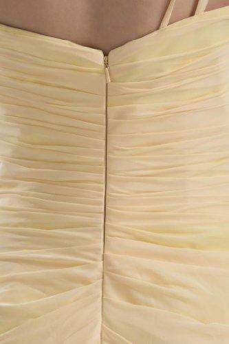 GEORGE BRIDE Herrliches Ein-Schulter AbschlussballKleid mit Chiffon Schal narzisse