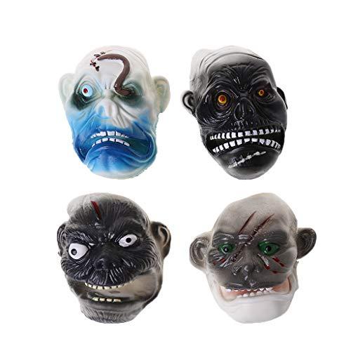 Gjyia 6 Teile/Satz Scary Ghost Stil Fingerpuppe Kinder Geschichte Zeit Halloween Dekor Spielzeug Grau 2,5 cm (Ghost Scary Kinder Für)