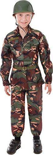 Jungen Fancy Kleid Party Armee Camo Camouflage Soldat Kostüm Militär Outfit UK Gr. L, (Uk Soldat Spielzeug Kostüm)