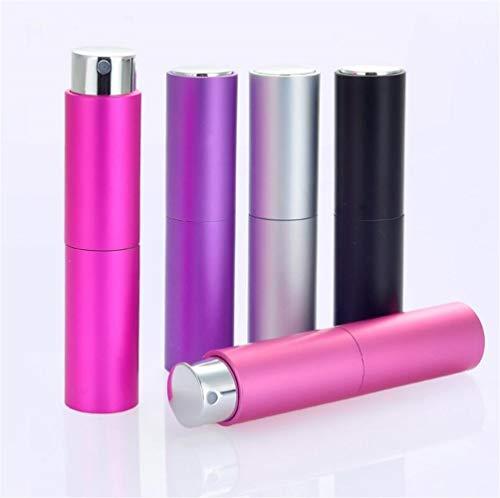 Ari_Mao Mini-Parfümflasche gedreht nachfüllbare Duftstoffflasche mit Sprayer leer Parfum-Kosmetikkoffer für Reisender 8ml (schwarz)