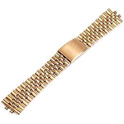 ygdz gelb gold Armband Edelstahl Band Strap Gebogene Ende Solide links Farbe Gelb Gold 20mm