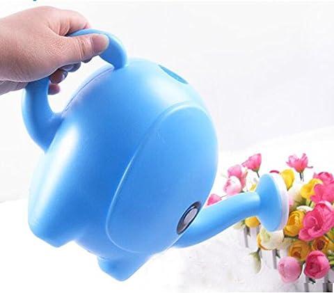 Y & B Arrosoir éléphant, entièrement fonctionnelle fantaisie Arrosoir bleu