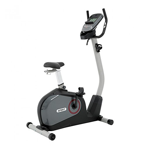 Spirit Upright Bike DBU 40 - Heimtrainer, Fitness Indoor Bike, Ergometer mit Hand-Puls-Sensoren