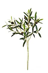 Idea Regalo - artplants Ramo di olivo artificiale con 105 foglie, 6 olive, verde, 50 cm -Olive decorative/Decorazione pensile