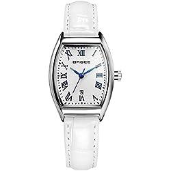 ladies waterproof watches/Retro calendar leather strap watch/Leisure quartz watch-A