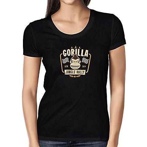 TEXLAB - Gorilla Jungle Rally - Damen T-Shirt, Größe L, schwarz
