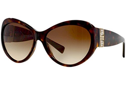 Michael Kors Damen MK2002MB Paris Sonnenbrille, Braun (Dark Tortoise 300613), One size (Herstellergröße: 60)