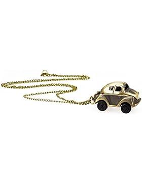 TU 68 Taschenuhr mit Autoanhänger und langer Halskette in Altgold, Modeschmuck, von Kobert Goods