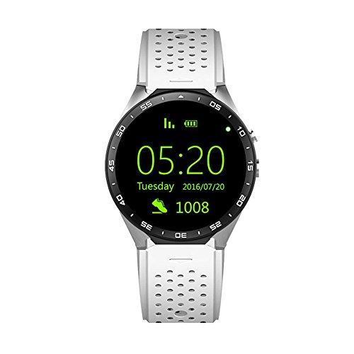 KW88 Smart Watch cellulare Android 5.1 OS 3G 1,39 pollici 400 * 400 screen MTK6580 (Personalizzato Lenti A Contatto)