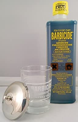 Barbicide 16fl.oz Solution and Manicure Table Jar