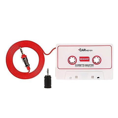 Cassette Jack - BESDATA Adaptateur Cassette pour Auto Radio, Compatible
