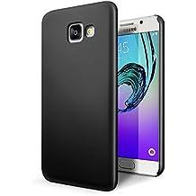 SLEO Funda para Samsung Galaxy A5 2017 PC Back Cover de Parachoques Duro Cubierta Protectora para Samsung Galaxy A5 2017 - Negro