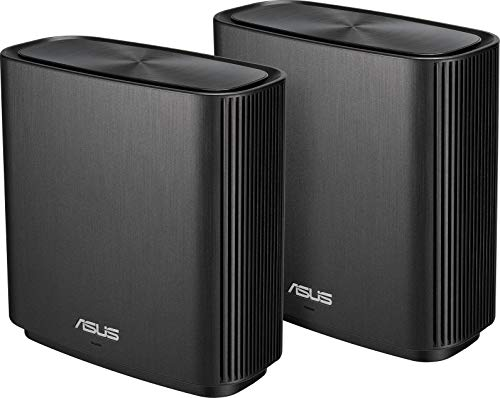 ASUS ZenWifi CT8 (2 pack) - Sistema Wi-Fi Mesh Tri-Banda AC3000 configuración sencilla (Cobertura de más 500m2, AiProtection con TrendMicro de por vida, 4 puertos Gigabit, Compatible con AiMesh)