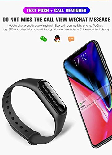 MOM'S GADGETS M3 Intelligence Bluetooth Health Wrist Smart Band Compatible  for All Androids and iOS Phone/Tablet (Black) | Activity Trackers, Sports