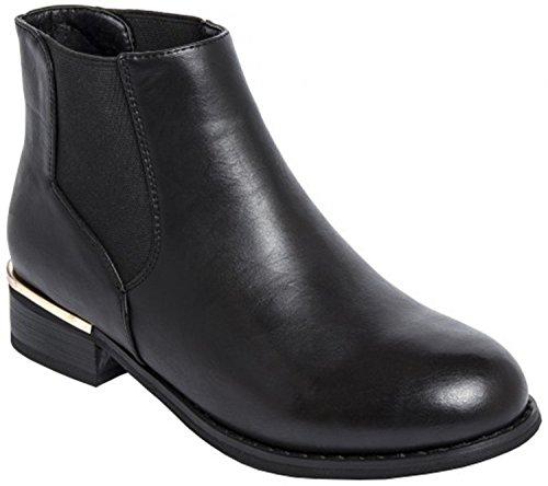 Ladies Chelsea Boots in Black or Grey (6, Black)