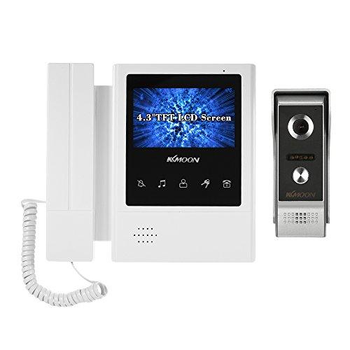"KKmoon Videoportero 4.3"" LCD Monitor Intercom Doorbell Kit Cámara 700TVL 4 IR LED Visión Nocturna 2-Vias Audio 800 * 480 Impermeable para Puerta con Cable 4.5 Metros"