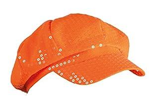 Boland 61773 - Lentejuelas sombrero adulto, tamaño de la unidad, naranja neón