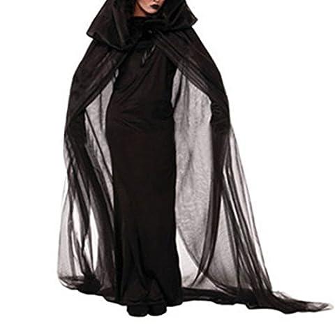 Sfit Déguisement Costume d'Halloween Party Cape Jupe Longue Costume de Sorcière Vampire Cosplay