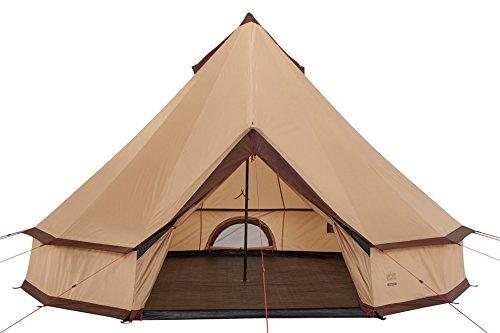 Grand Canyon Indiana Tipi Rund-/ Pyramidenzelt, 10 Personen, für Gruppen, Camping, Outdoor, Glamping, beige, Ø 500 cm, 602020