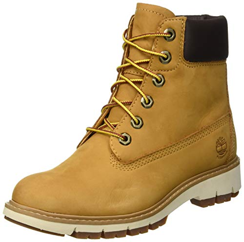 Timberland Damen Lucia Way 6 Inch Waterproof Stiefel, Beige (Wheat Waterbuck 231), 38.5 EU