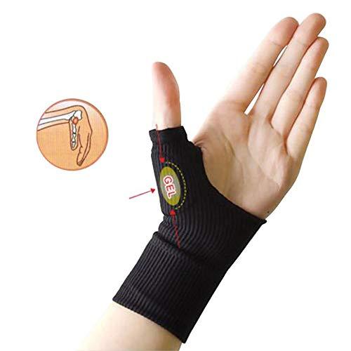 2 Paare/Set (Beige + Black Farbe) Arthritis Handschuhe Medizinische Handgelenk Daumen Hände Schiene Stützklammer Stabilisator