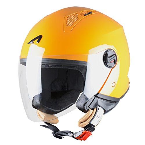 Astone Helmets Mini Jet Army Casco Jet, color Naranja, talla M