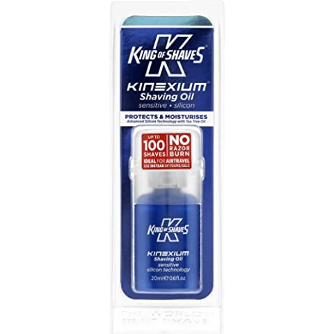 King of Shaves Kinexium Shaving Oil Sensitive, ?Silicon Bottle with Pump 20 ml