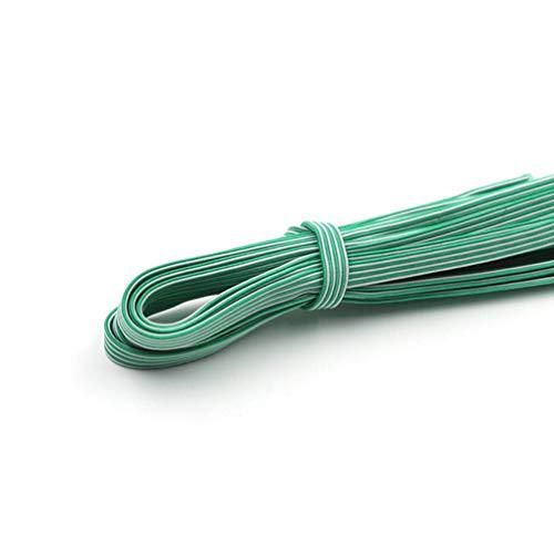 Colore fasce elastiche piatte bobina fascetta da cucire fettuccia elastica piatta fettuccia piatta nastro elastico ideale per cucire cinturini e bricolage tessuti piatti resistenti di alta qualità 5 m