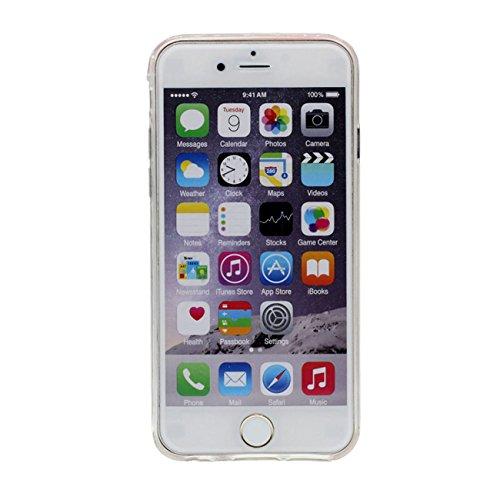 iPhone 6S Plus Coque Étui de Protection pour Apple iPhone 6 Plus 6S Plus 5.5 inch Splendide Cœurs Couler Dur Transparente Eau Liquide iPhone 6 Plus Case Fille robe Motif avec 1 Silicone Titulaire vert
