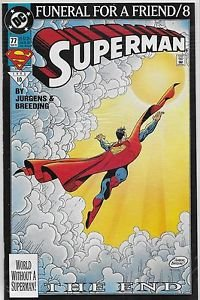 Superman # 77 DC 1993 High Grade Funeral for A Friend 8