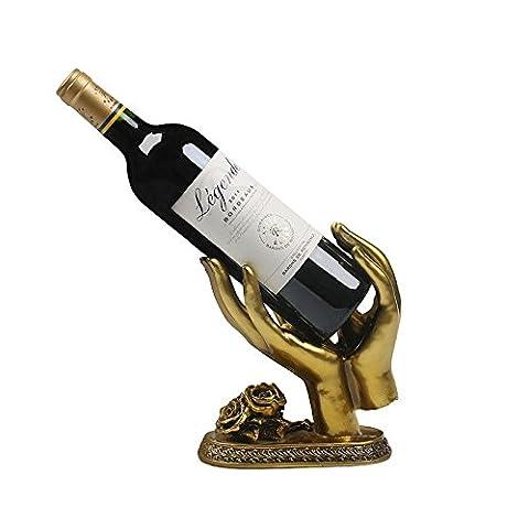 La nouvelle technologie de résine ornements casier à vin de casier à vin en bronze rétro aiment vous la main tenant le vin de casier à vin