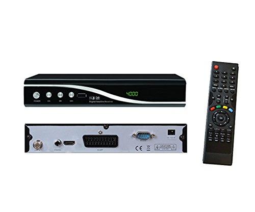 Digitaler Satelliten Receiver FTA SCART/ DVB-S SD + DVB-S2