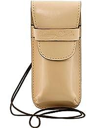 Tuscany Leather - Exclusif étui pour lunettes/Smartphone en cuir - Beige