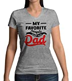 My Favorite People Call Me Dad Damen V-Neck T-Shirt S