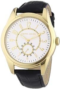 Pierre Cardin Herren-Armbanduhr XL Comte Analog Quarz Leder PC104241F03