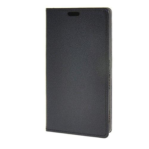 EVERGREENBUYING Hülle Für Sony Xperia M5 Leder Flip Tasche Schutzhülle Hülle Schale Etui Shell Case Cover Schwarz 02
