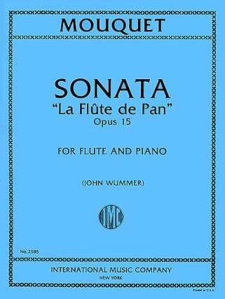 LA FLUTE DE PAN - SONATE OP 15 - arrangiert für Querflöte - Klavier [Noten / Sheetmusic] Komponist: MOUQUET JULES
