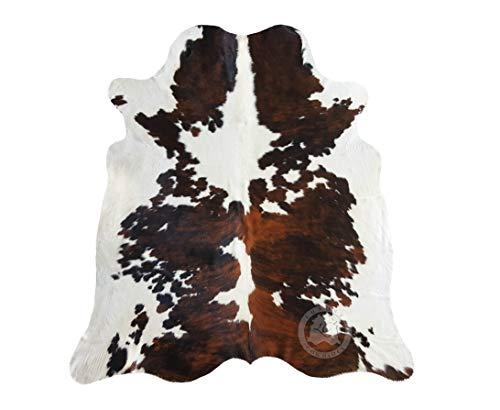 Sunshine Cowhides Teppich aus Kuhfell, Farbe: Tricolor TC7 Größe Circa 180 x 150 cm, Premium - Qualität von Pieles del Sol aus Spanien