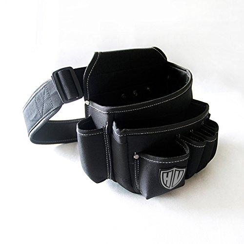 Bolsa de herramientas multiusos con cinturón de nailon ajustable, resistente y profesional, para trabajo en cintura