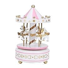 Carrousel muziekdoos carrousel cadeau, carrousel muziekdoos, jongensverjaardag voor meisjes(White powder)