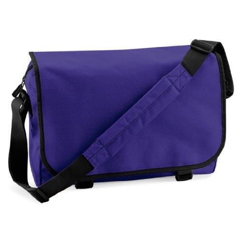 Shirtstown Messenger Bag, Umhängetasche, Schultertasche, Retro, Tasche, Farbe weiss purple