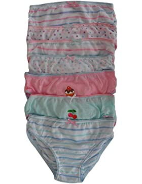 Girls Ropa interior–Estampado 100% algodón Slip en caja de regalo (Pack de 7)